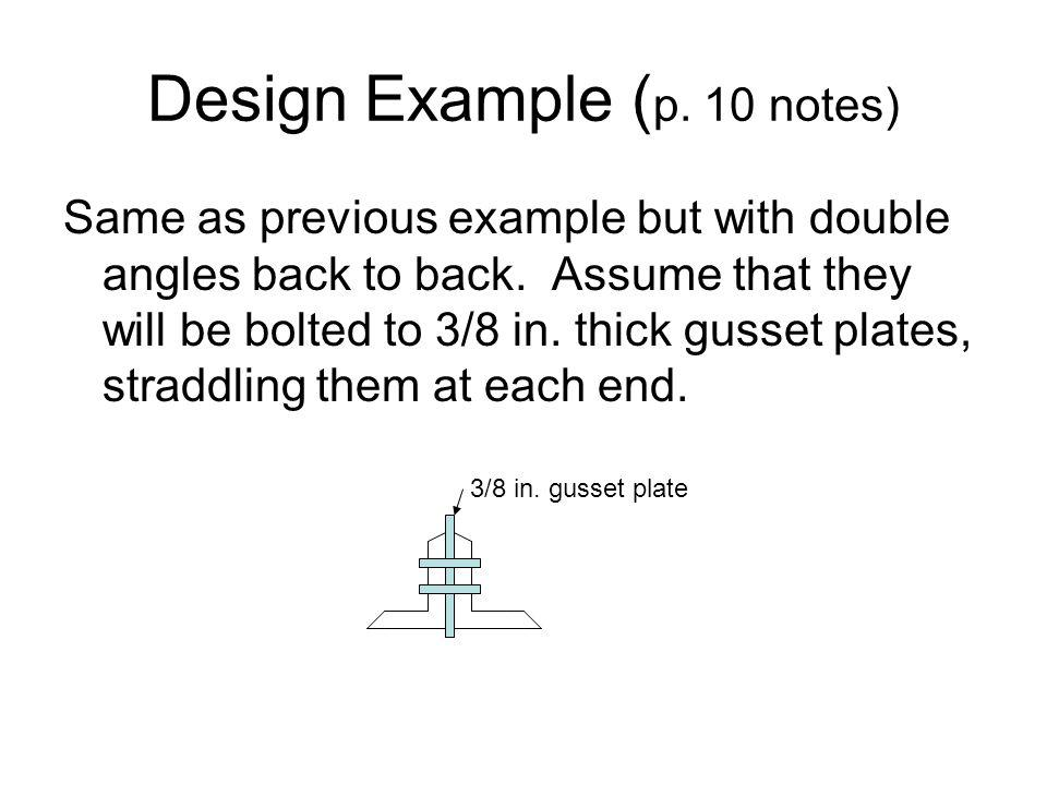 Design Example (p. 10 notes)