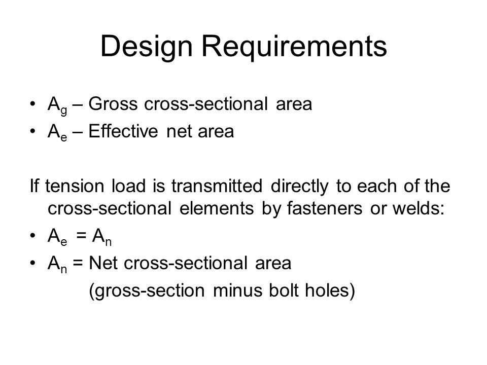 Design Requirements Ag – Gross cross-sectional area