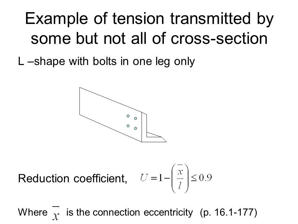 Example of tension transmitted by some but not all of cross-section