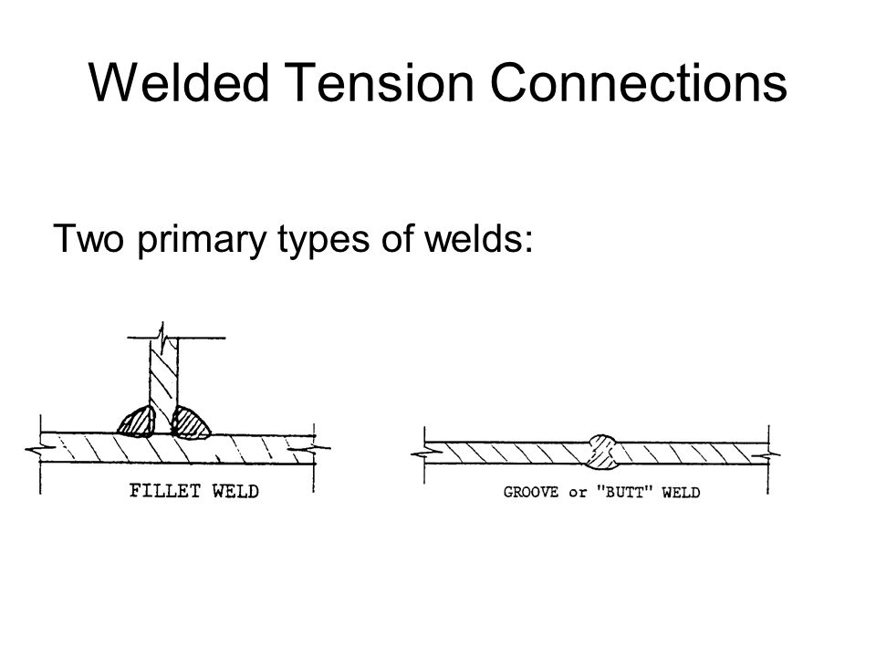 Welded Tension Connections