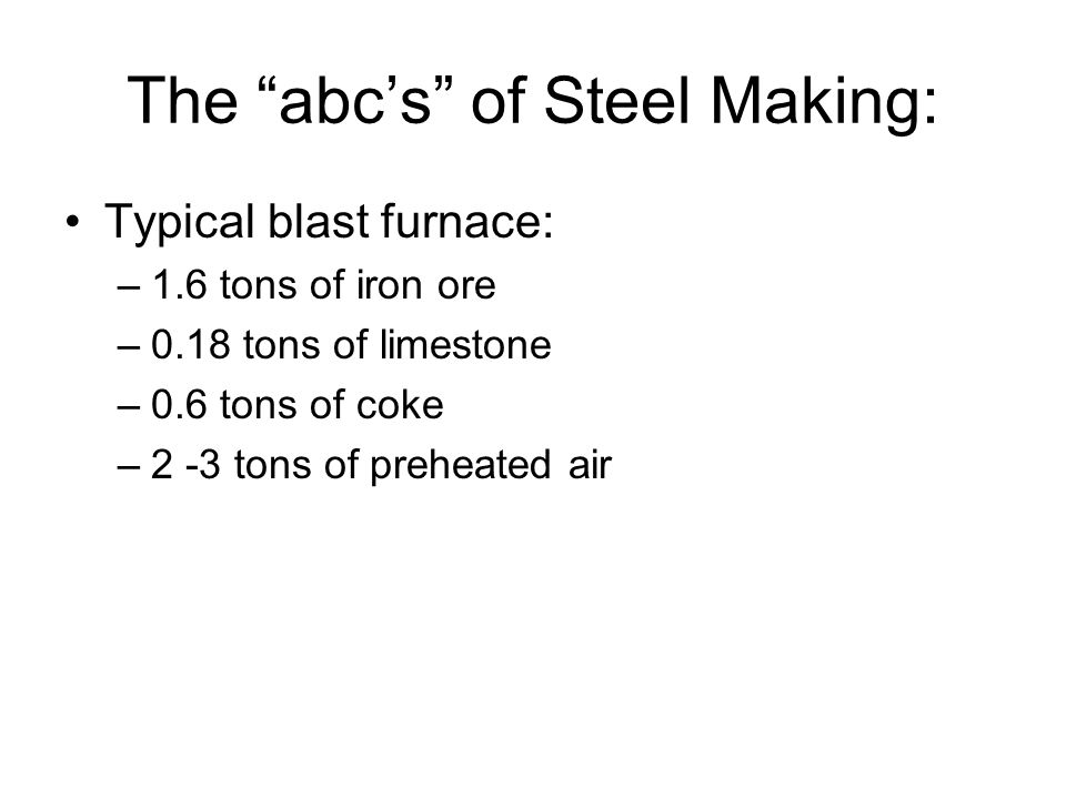 The abc's of Steel Making: