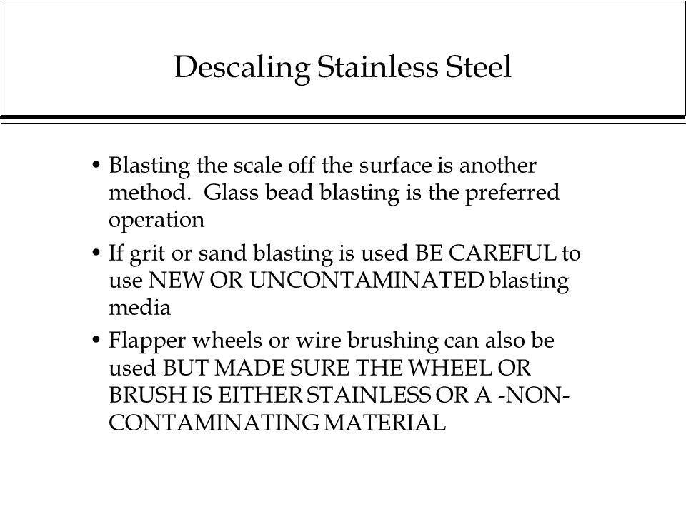 Descaling Stainless Steel