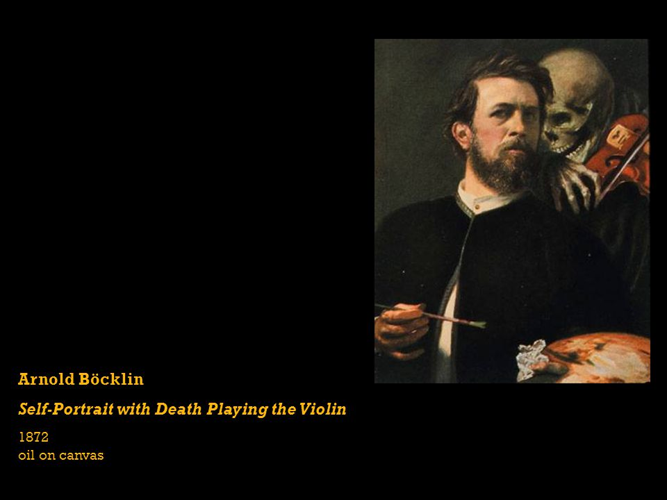 Self-Portrait with Death Playing the Violin