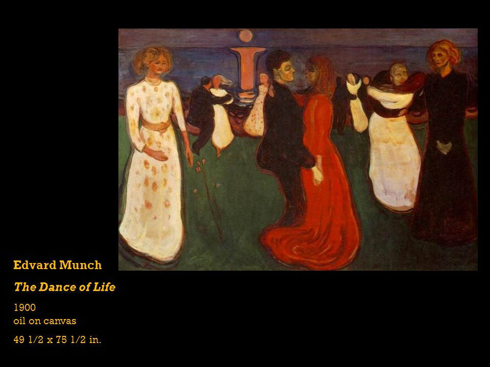 Edvard Munch The Dance of Life 1900 oil on canvas 49 1/2 x 75 1/2 in.