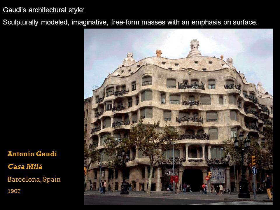 Gaudi's architectural style: