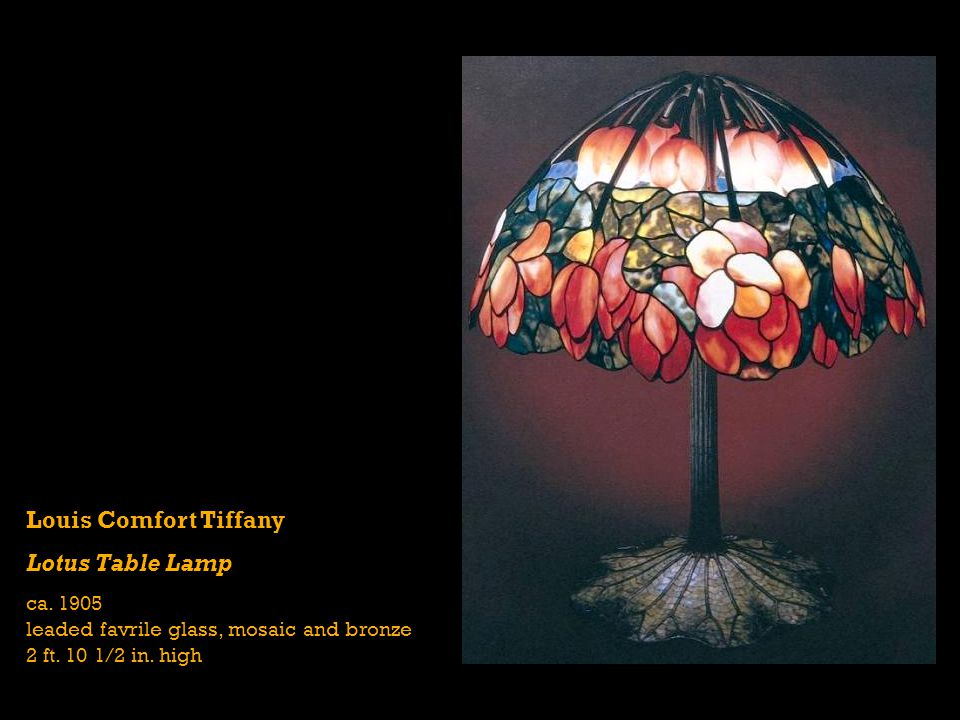 Louis Comfort Tiffany Lotus Table Lamp