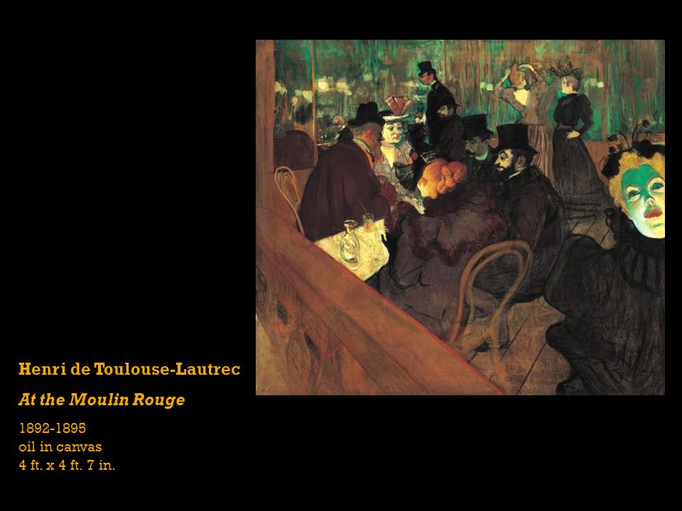 Henri de Toulouse-Lautrec At the Moulin Rouge