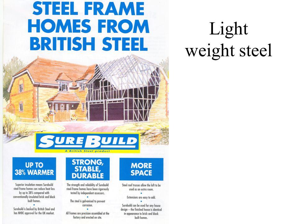 Light weight steel