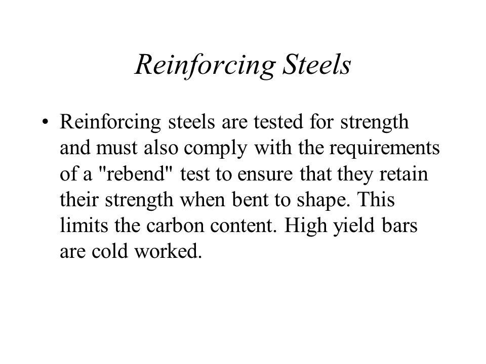 Reinforcing Steels