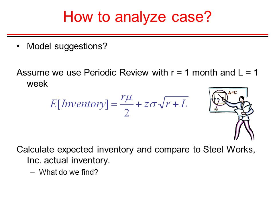 How to analyze case Model suggestions