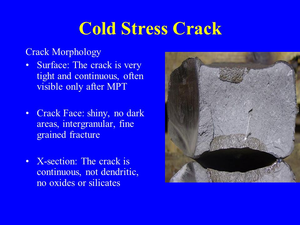 Cold Stress Crack Crack Morphology