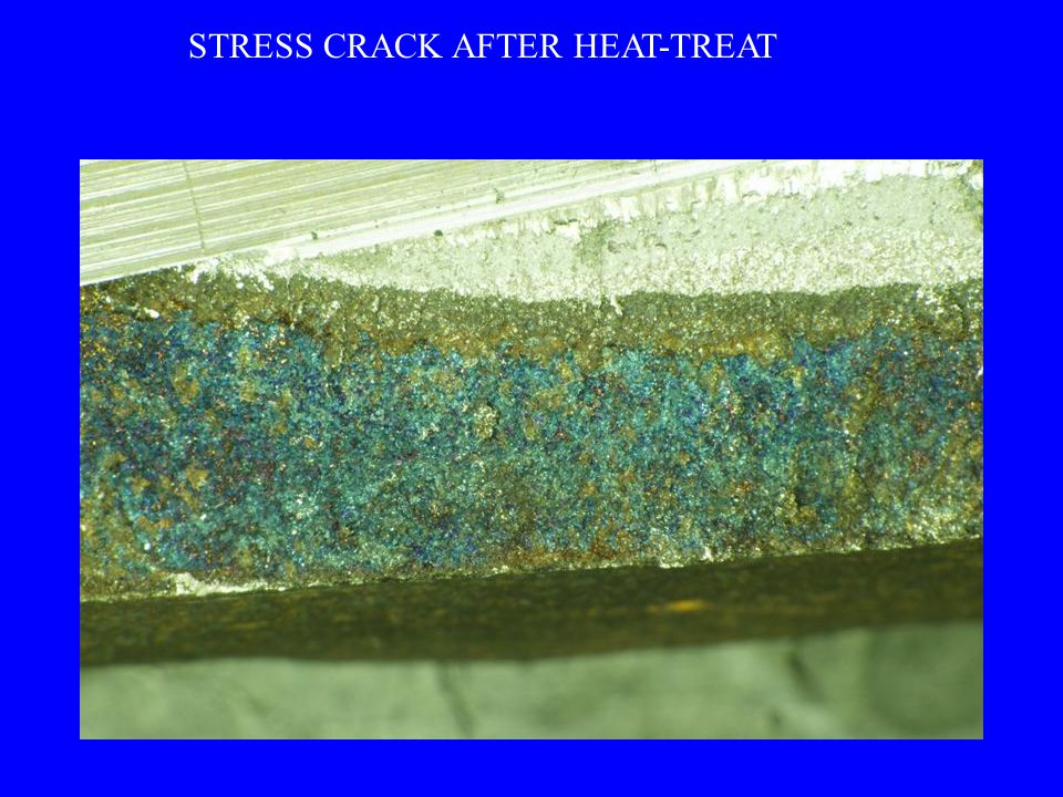 STRESS CRACK AFTER HEAT-TREAT