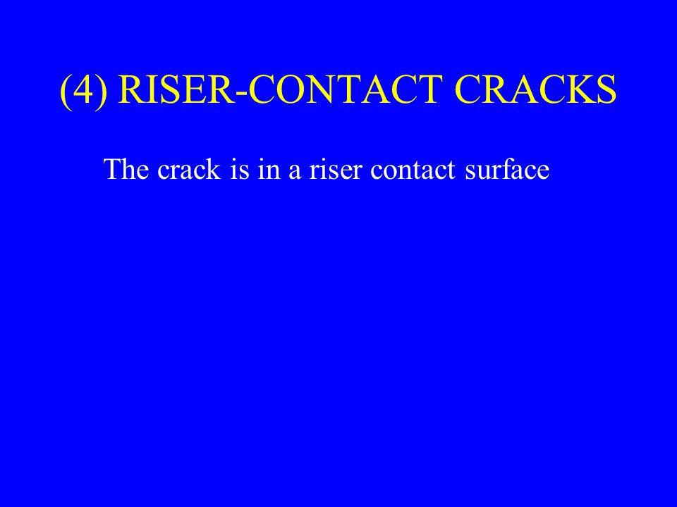 (4) RISER-CONTACT CRACKS