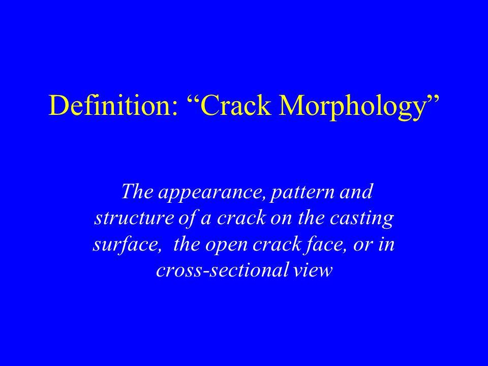 Definition: Crack Morphology
