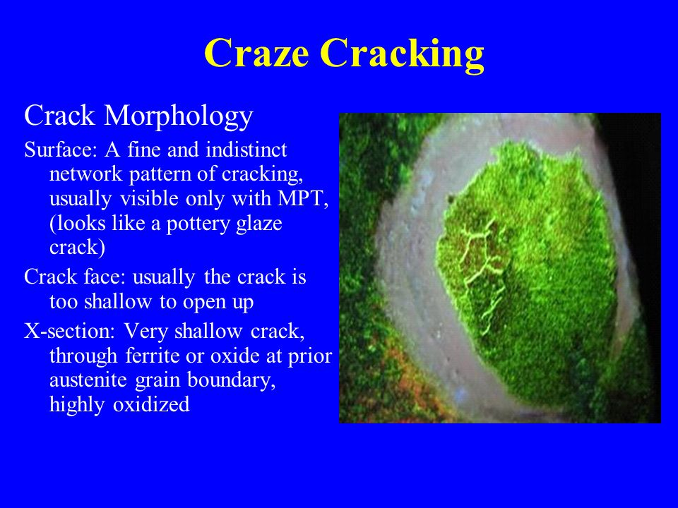 Craze Cracking Crack Morphology