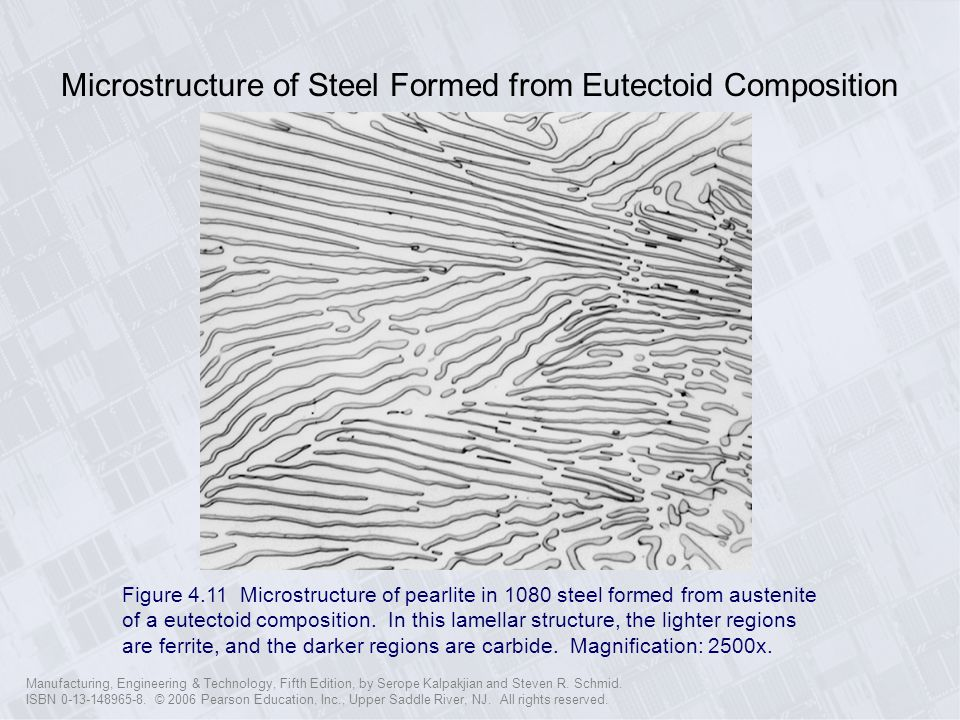 Microstructure of Steel Formed from Eutectoid Composition