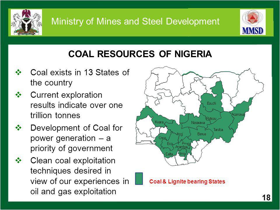 SOME COAL PROJECTS 19 Deposit Location Reserves Obi -Lafia Coal