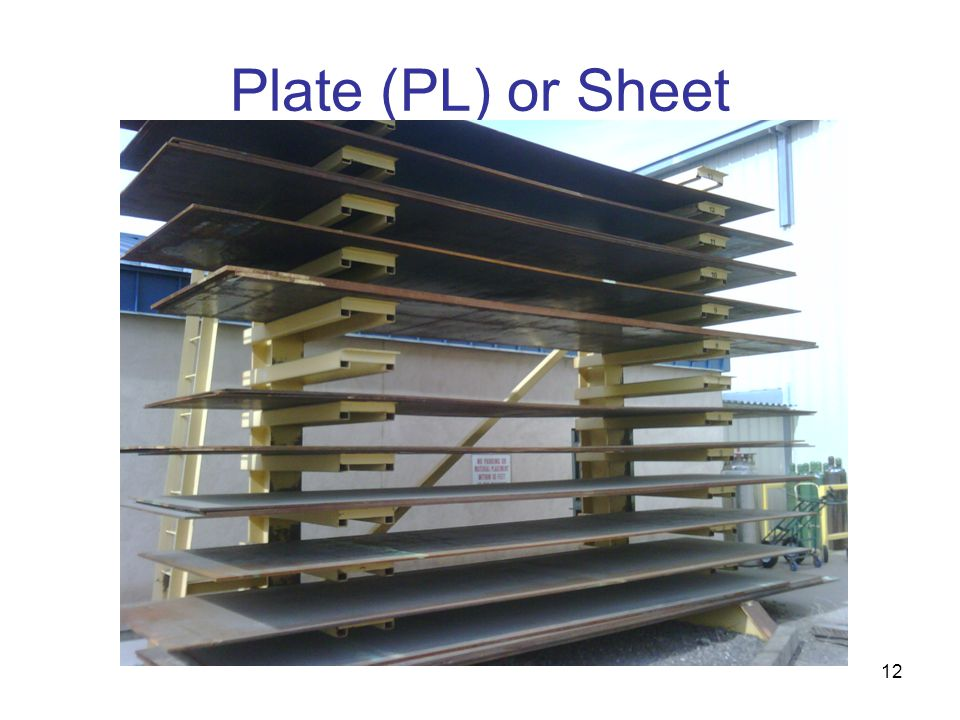 Plate (PL) or Sheet