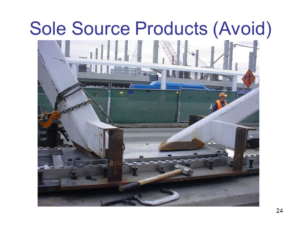 Sole Source Products (Avoid)