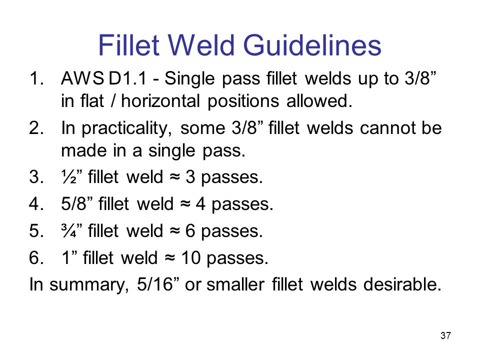 Fillet Weld Guidelines
