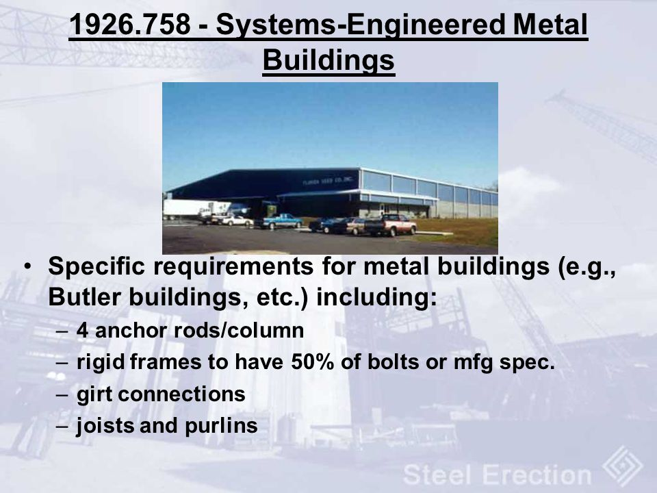 1926.758 - Systems-Engineered Metal Buildings