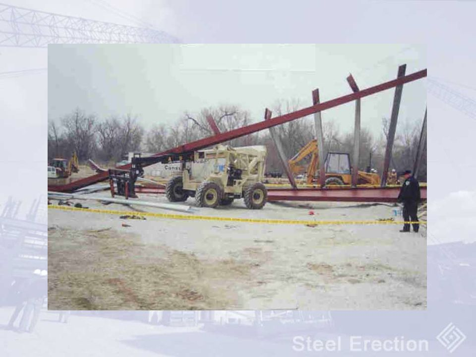 Metal building collapse while under erection