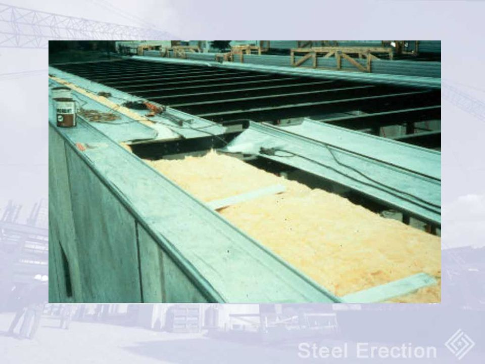 The installation of the metal decking and its associated insulation are both subpart R activities.