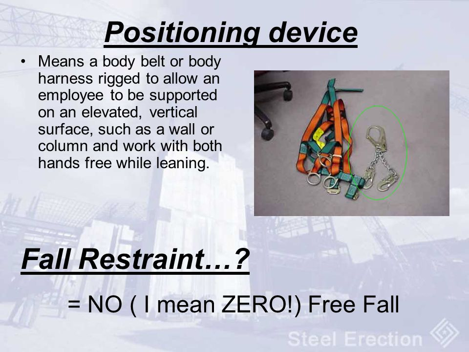 Positioning device Fall Restraint…