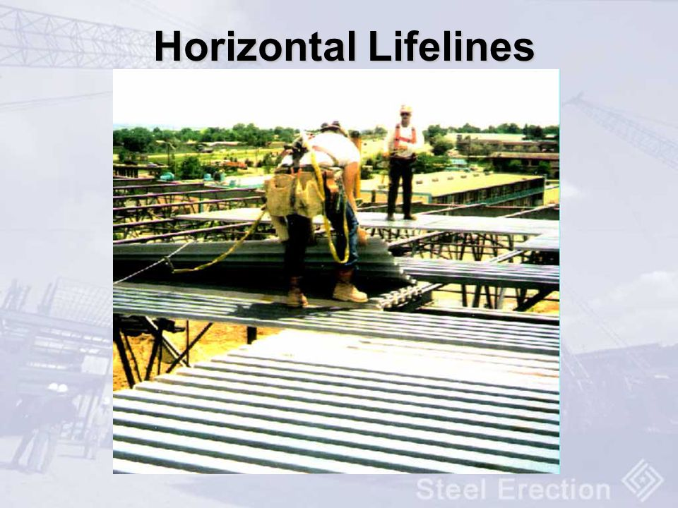 Horizontal Lifelines Horizontal lifelines must me installed in accordance with 1926.502(d)(8)
