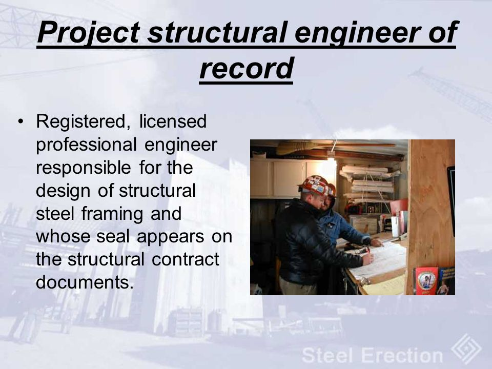 Project structural engineer of record