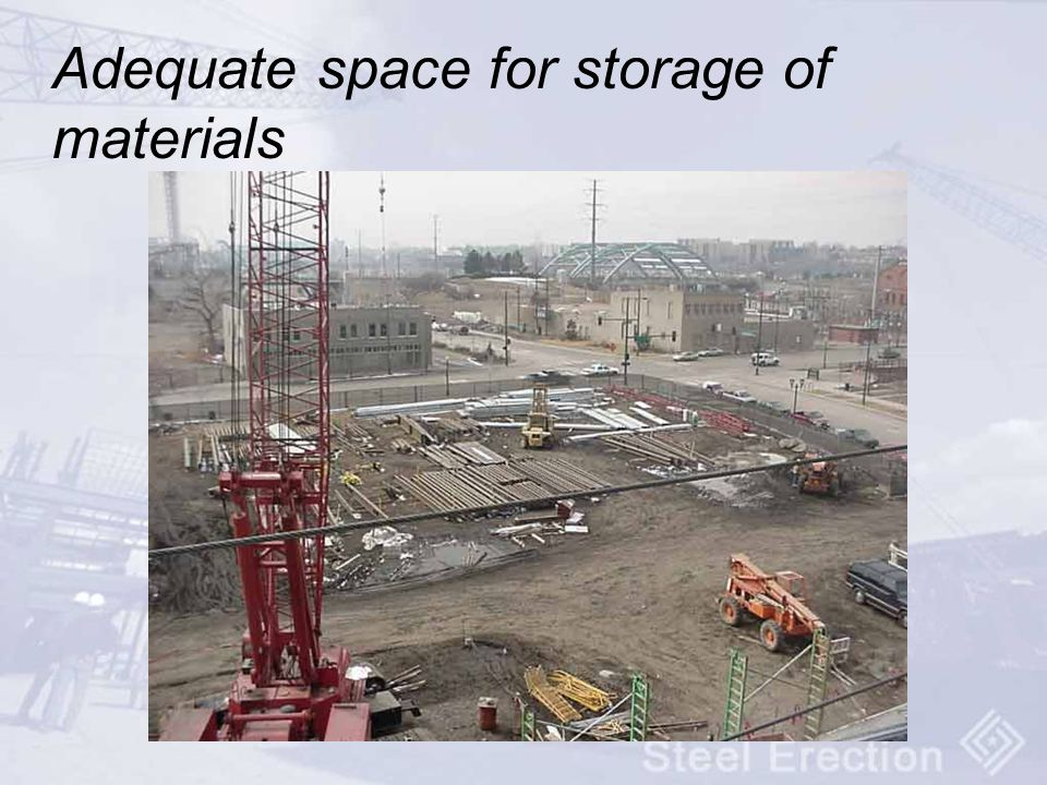 Adequate space for storage of materials