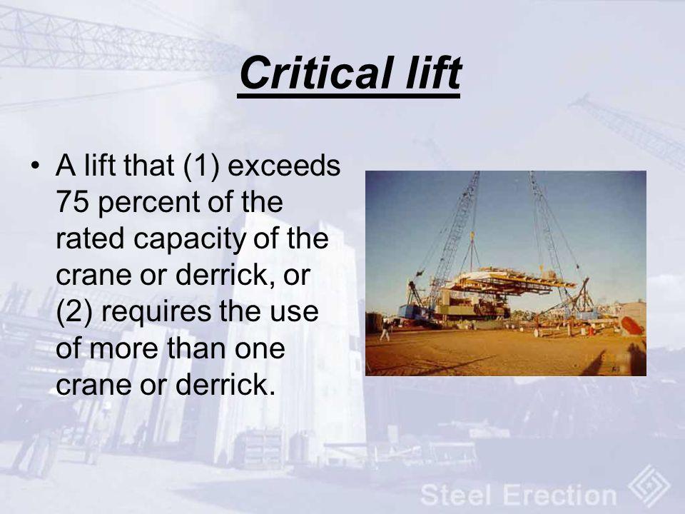 Critical lift