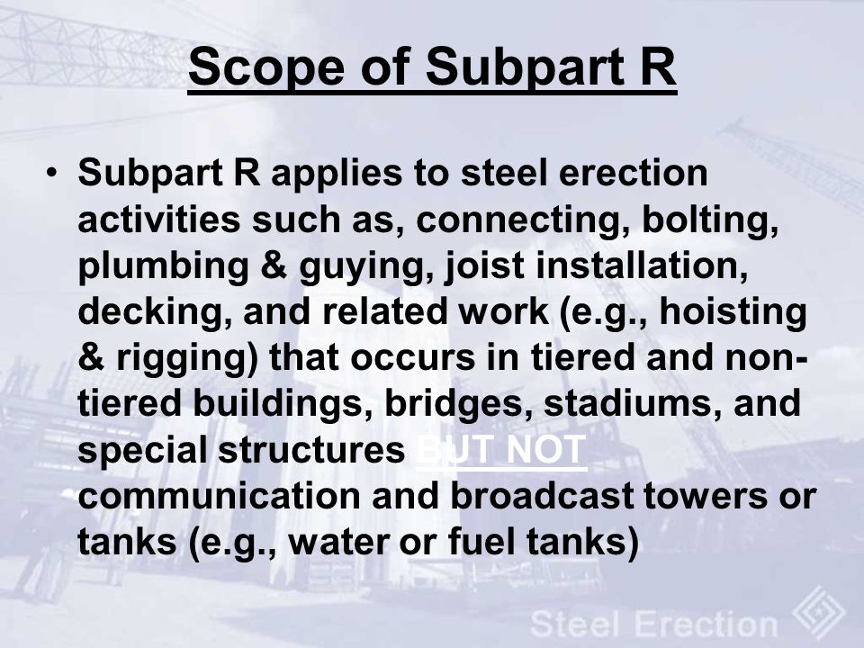 Scope of Subpart R