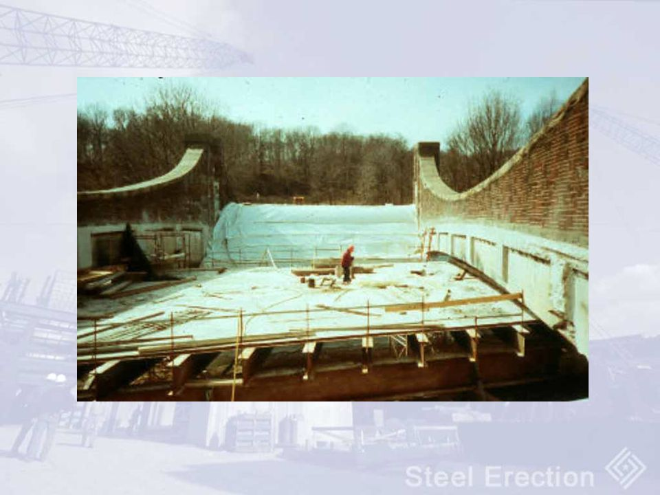 Highway over pass – steel frame work is subpart R, concrete deck and masonry wall are subpart M
