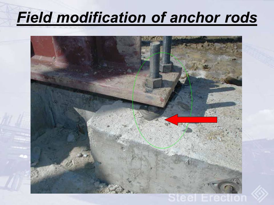 Field modification of anchor rods