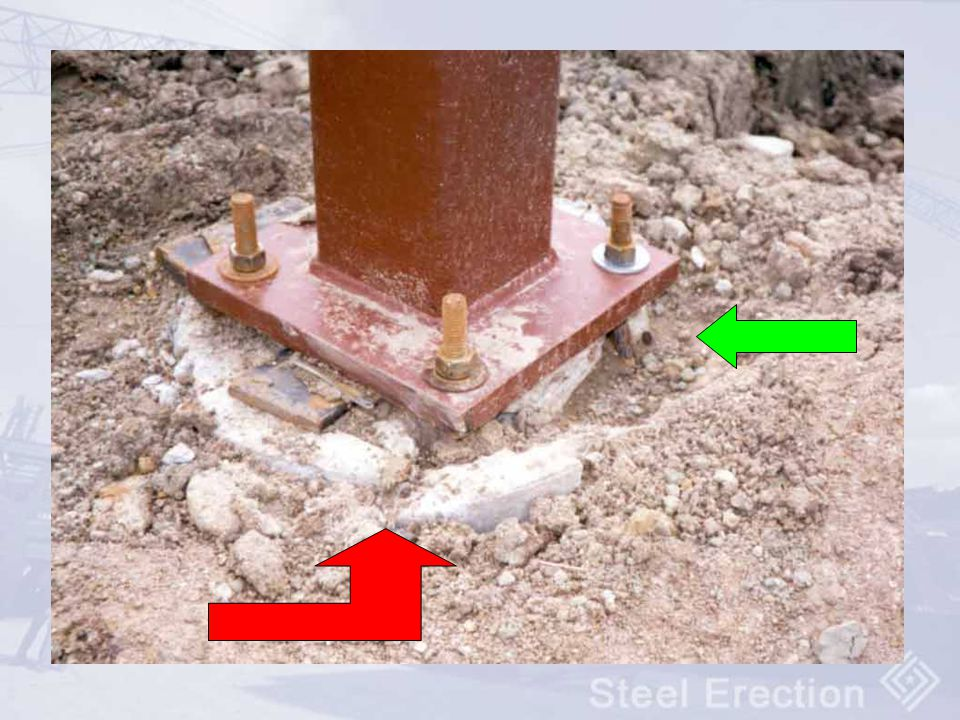 Look for cracked footings – footing is shot