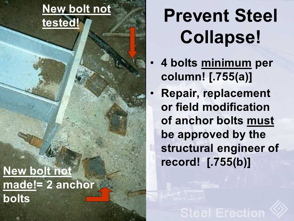 Prevent Steel Collapse!