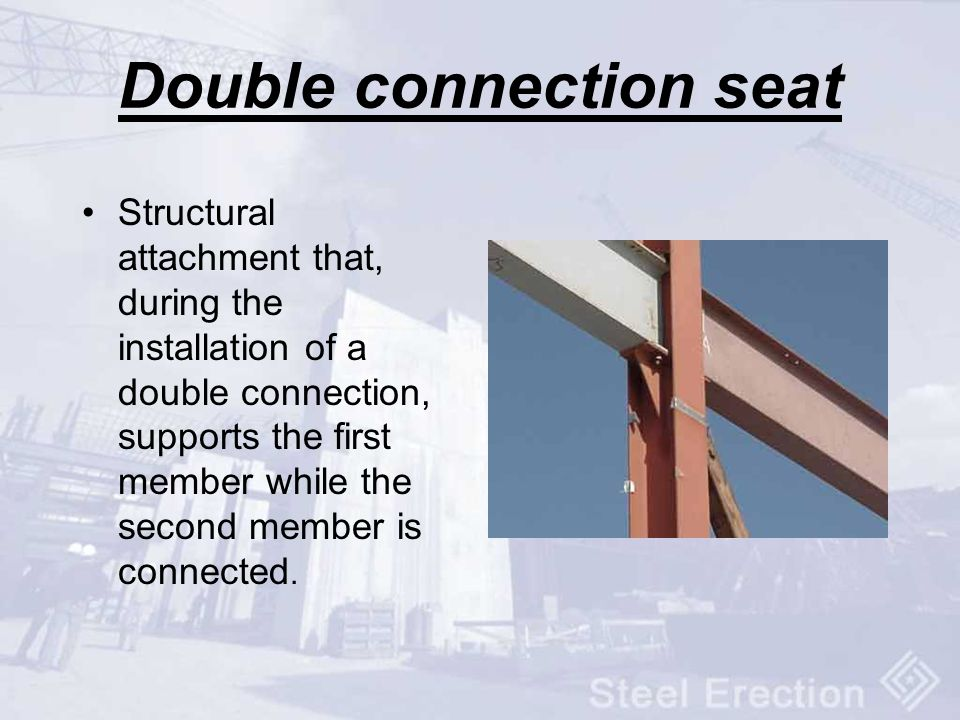Double connection seat