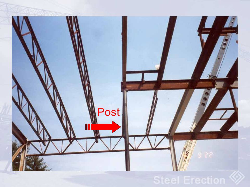 Post Posts are light weight vertical steel members weighing less than 300 pounds.