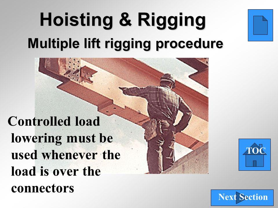 Hoisting & Rigging Multiple lift rigging procedure