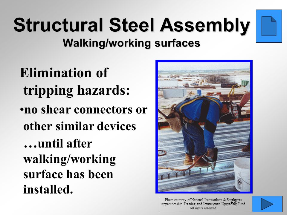 Structural Steel Assembly Walking/working surfaces