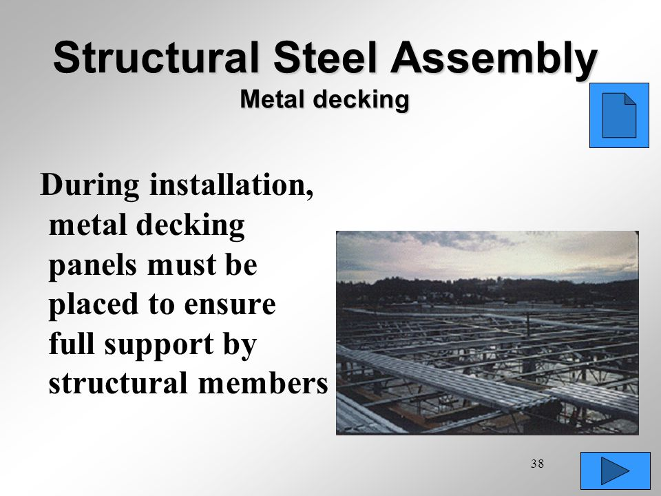 Structural Steel Assembly Metal decking