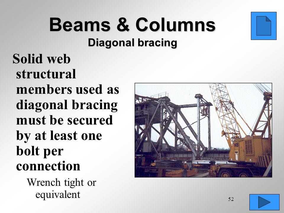 Beams & Columns Diagonal bracing