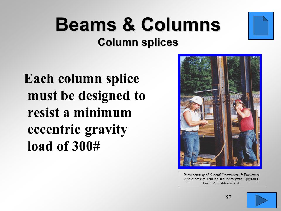 Beams & Columns Column splices