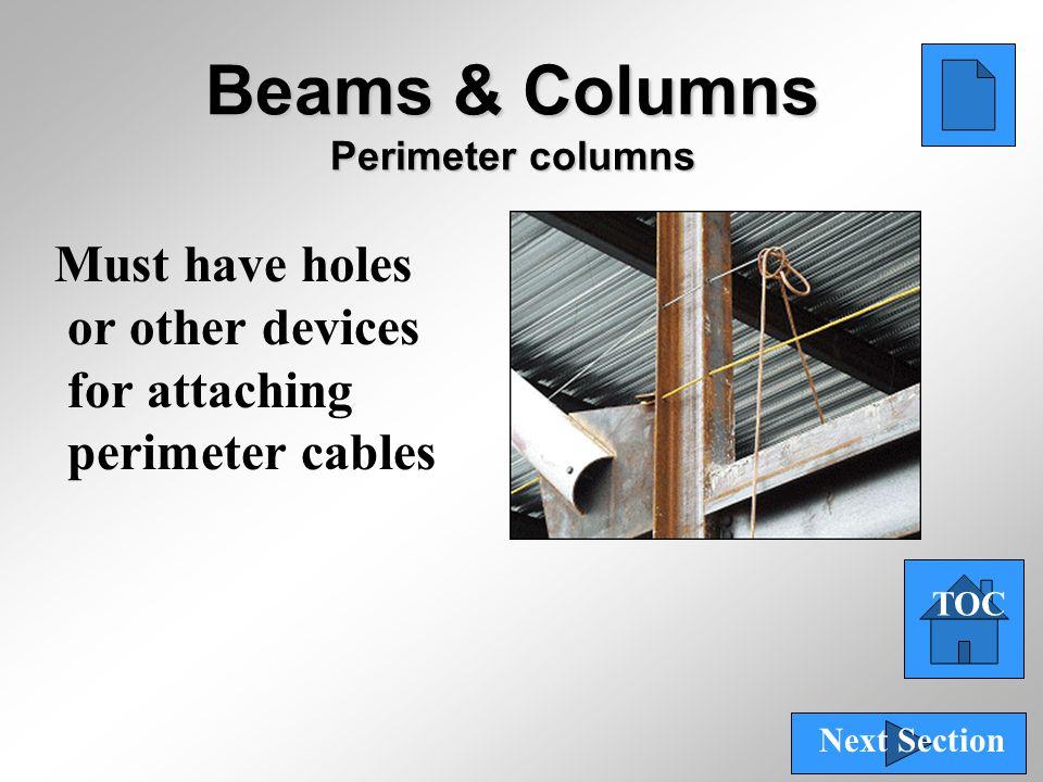 Beams & Columns Perimeter columns
