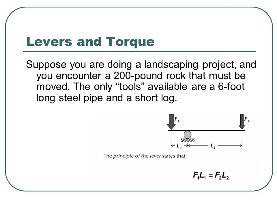 Levers and Torque