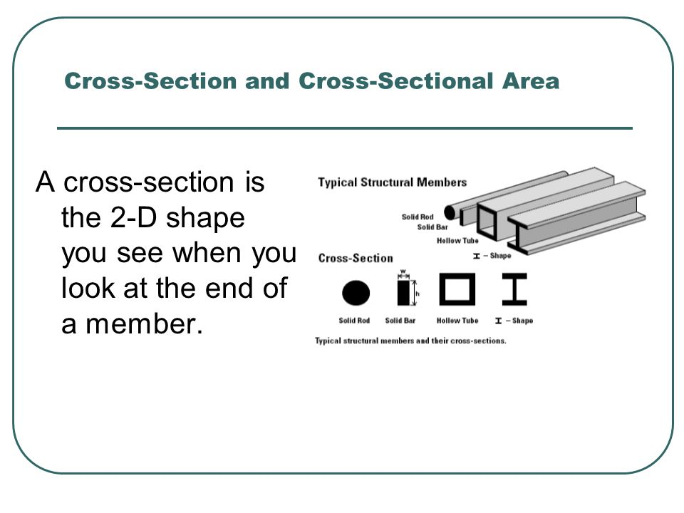 Cross-Section and Cross-Sectional Area