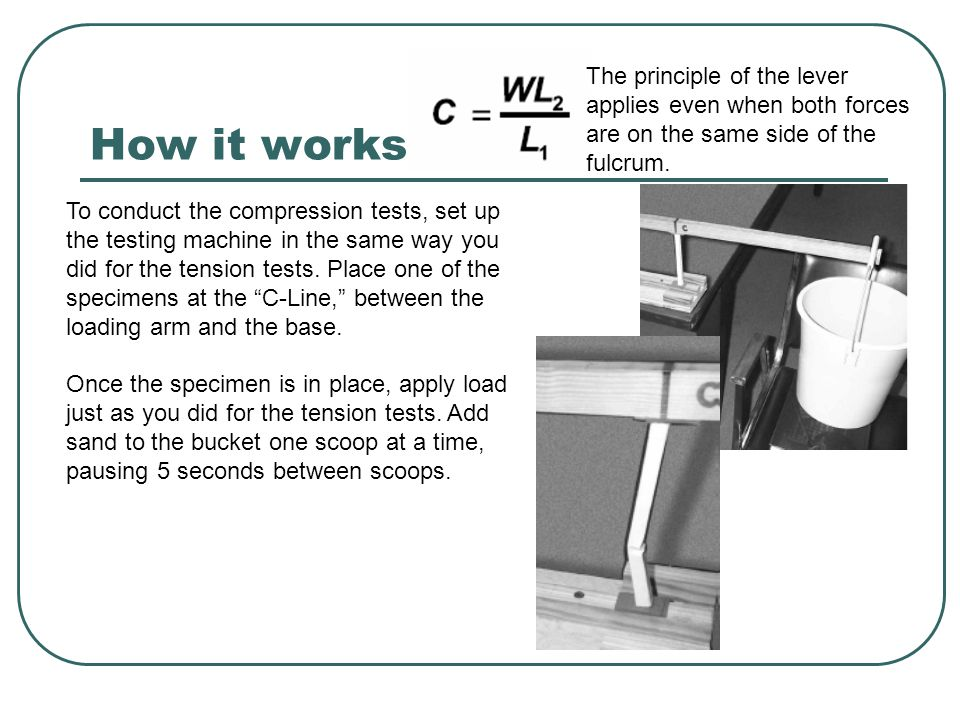 How it works The principle of the lever applies even when both forces are on the same side of the fulcrum.