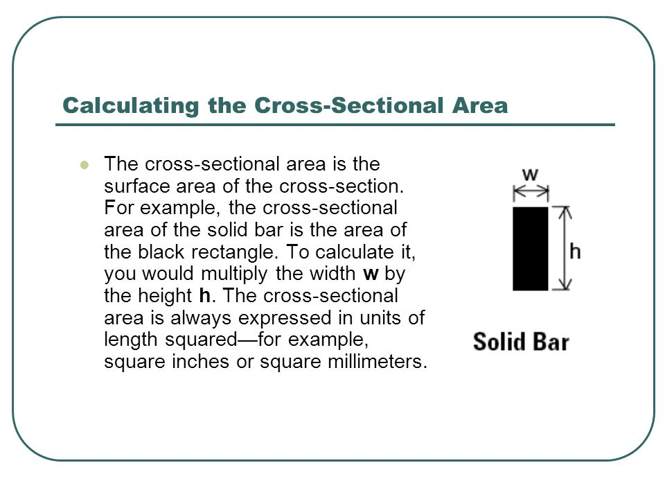 Calculating the Cross-Sectional Area