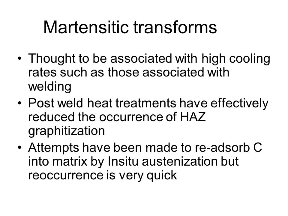 Martensitic transforms